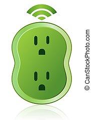 Un icono de energía verde e inteligente