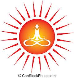 Un icono de energía yoga