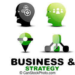 Un icono de estrategia y negocios modernos