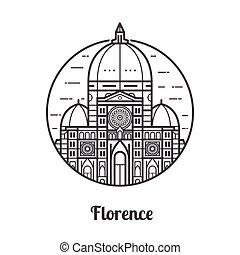Un icono de Florencia de viaje