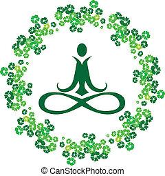 Un icono de flores Yoga
