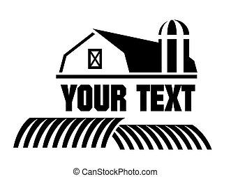Un icono de granja y granero