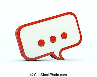 Un icono de habla. Serie roja