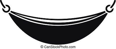 Un icono de hamaca de playa, estilo simple