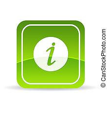 Un icono de información verde