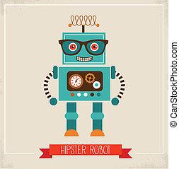 Un icono de juguete robot hipnotizador