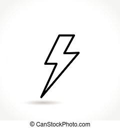 Un icono de línea delgada
