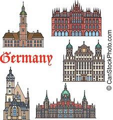 Un icono de línea fina marcada por los alemanes