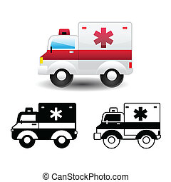 Un icono de la ambulancia
