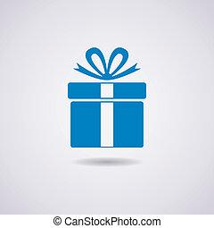 Un icono de la caja de regalos