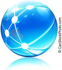 Un icono de la esfera de la red