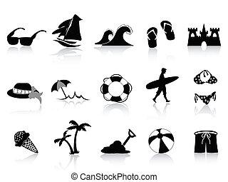Un icono de la playa negra
