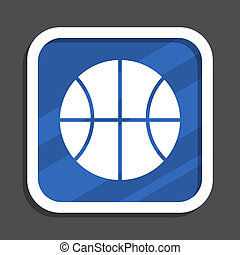 Un icono de la web de diseño azul claro