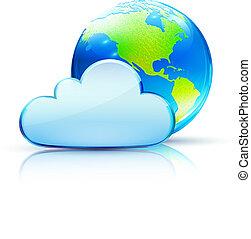 Un icono de las nubes