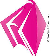 Un icono de libro rosa