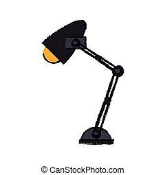 Un icono de luz amarilla de la oficina de Cartoon