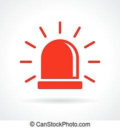 Un icono de luz roja