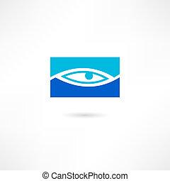 Un icono de ojos