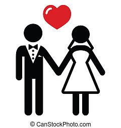 Un icono de parejas casadas