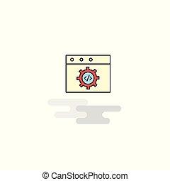 Un icono de programación web plana. Vector