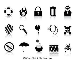 Un icono de seguridad negra