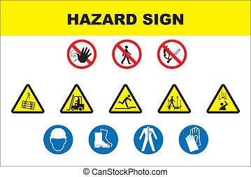 Un icono de seguridad y peligro