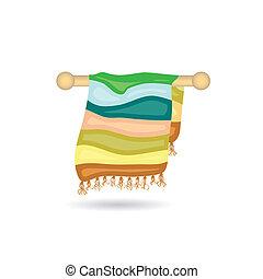 Un icono de toallas