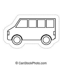 Un icono de vehículo