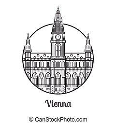Un icono de Viena de viaje