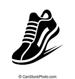 Un icono de zapato. Vector