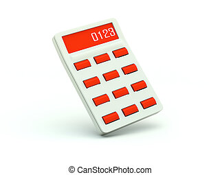 Un icono del calculador. Serie roja