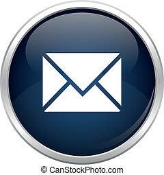 Un icono del correo azul