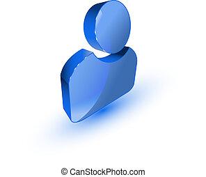 Un icono del perfil de usuario