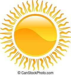 Un icono del sol Clipart