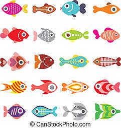 Un icono del vector de peces