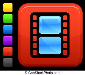 Un icono en el botón cuadrado de Internet