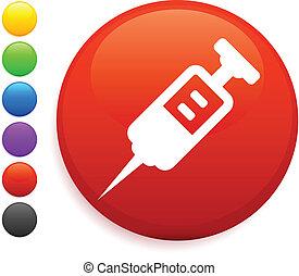 Un icono en el botón de Internet