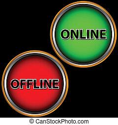 Un icono en línea y fuera de línea