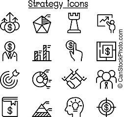 Un icono estratégico en una línea delgada