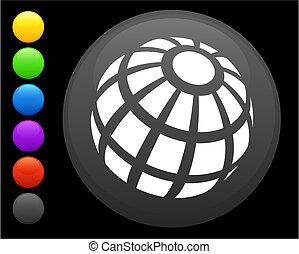 Un icono Globe en el botón de Internet
