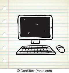 Un icono informático al estilo garabato