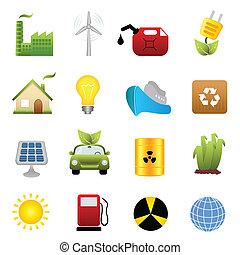 Un icono limpio de energía