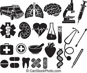 Un icono médico listo
