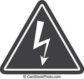 Un icono peligroso en negro en un fondo blanco. Ilustración de vectores