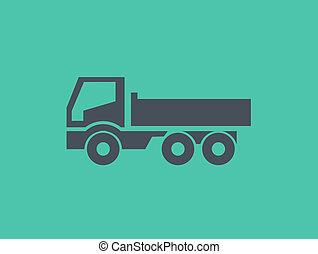 Un icono plano de transporte