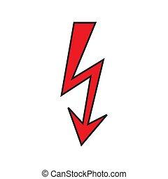 Un icono relámpago. Señal de electricidad.