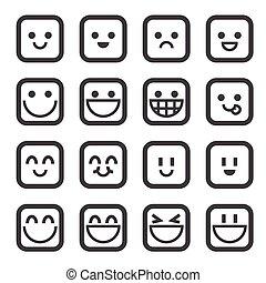 Un icono sonriente