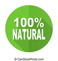 Un icono verde natural, 100% natural