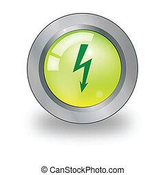 Un icono Web con señal de electricidad