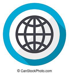 Un icono web de diseño plano azul